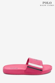 Ralph Lauren Pink Bensley Sliders