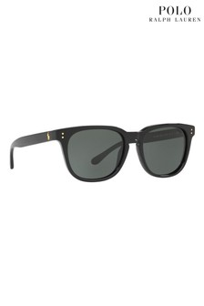 Polo Ralph Lauren® Black Round Wayfarer Sunglasses