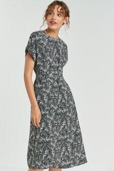 Платье миди с ремнем