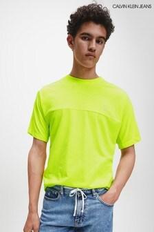 Calvin Klein T-Shirt mit Logo am Rücken, Gelb