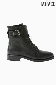 FatFace Black Larbert Lace-Up Boots