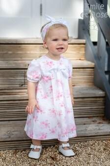 שמלת קוקטייל עם הדפס פרחוני בורוד שלEmile et Rose