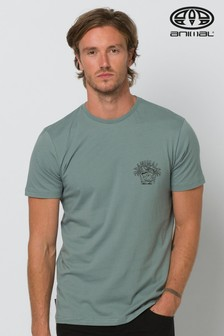 Animal Lead Grey Stork Deluxe Graphic T-Shirt