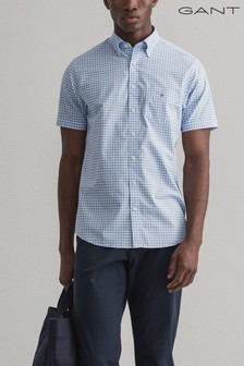 GANT Regular Broadcloth Gingham Short Sleeve Shirt