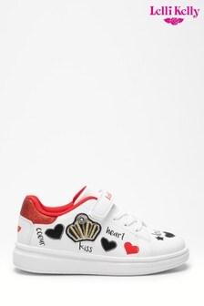 Белые кроссовки с сердечками Lelli Kelly