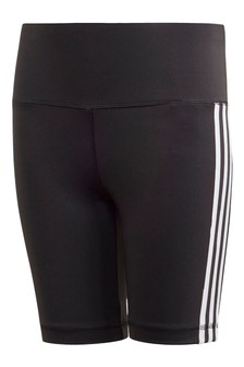 addas Svart 3 Stripe Cykling Shorts