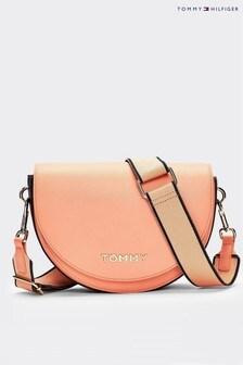 Tommy Hilfiger Pink Tommy Staple Saddle Bag