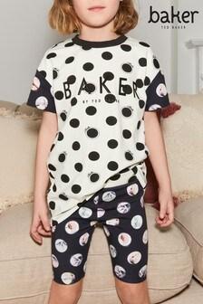 Baker by Ted Baker Kurzes, gepunktetes Pyjamaset