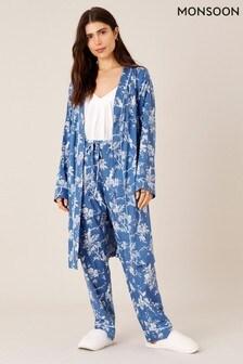 Monsoon Blue Lounge Floral Print Robe
