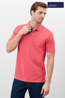 Joules Pink Woody Classic Fit Polo Shirt