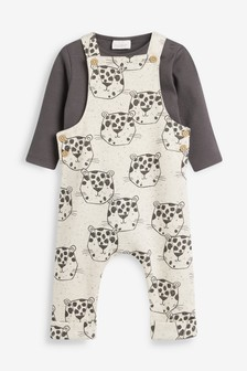 Jungle Jersey Dungaree And Bodysuit Set (0mths-2yrs)