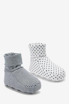 2雙裝棉質嬰兒鞋 (0-18個月)