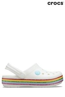 כפכפים עם נוצצים של Crocs™ דגם Crocband Rainbow