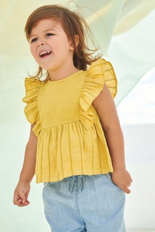 刺繍入りブラウス (3 か月~7 歳)