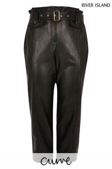 River Island Curve Black Plus Peg Trousers