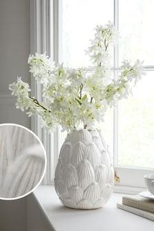 Grey Artichoke Ceramic Vase