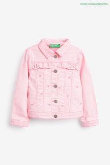 Benetton Denim-Jacke, Pink
