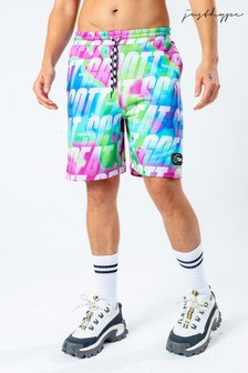 Hype. x Back To The Future Neon Repeat Logo Shorts