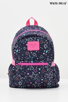 White Stuff Kids Blue Stars In The Rain Backpack