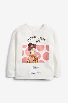 Dievčenské ležérne tričko s 3D potlačou (3 – 16 rok.)