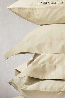 Set of 2 Laura Ashley Cream 400 Thread Count Cotton Pillowcases