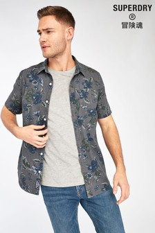 Superdry Grey Hawaiian Shirt