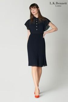 שמלת קפלים של L.K.Bennett