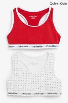 Набор белых хлопковых топов-бра Calvin Klein Modern (2 шт.)