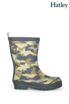Hatley Green Dino Camo Matte Rain Boots