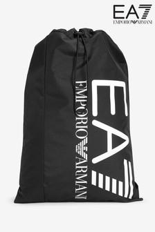 "حقيبة ظهر سوداء <bdo dir=""ltr"">EA7</bdo> من Emporio Armani"