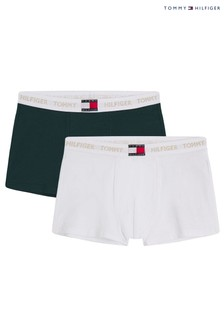 Tommy Hilfiger Green Holiday Trunks 2 Pack