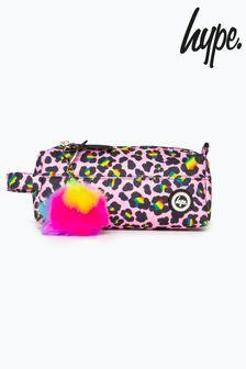 Hype. Rainbow Leopard Pencil Case