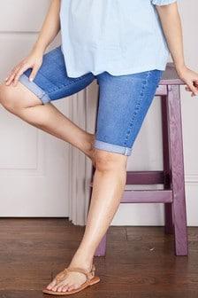 Pantalones cortos premamá de denim