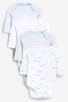 4 Pack Elephant Long Sleeve Bodysuits (0-3yrs) (822087)   $15 - $18