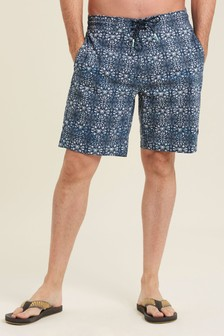 FatFace Blue Camber Beach Print Swimmers