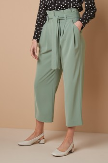 Twill Belted Culottes