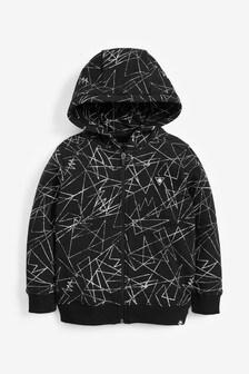 Printed Zip Through Hoody (3-16yrs)