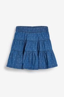 חצאית שכבות עם הדפס (3 חודשים עד גיל 7)