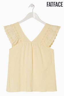 FatFace Yellow Elise Lace Cami