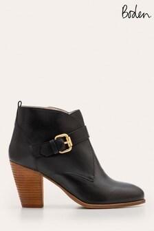Boden黑色Carlisle楔形短靴