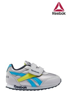 حذاء رياضي رمادي/أزرق للأطفال الصغار بحزام لاصق منReebok