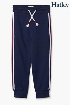Темно-синие спортивные брюки с полосками по бокам Hatley