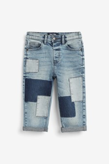 Loose Fit Patch Jeans (3mths-7yrs)