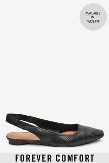 Forever Comfort® slingback met vierkante neus