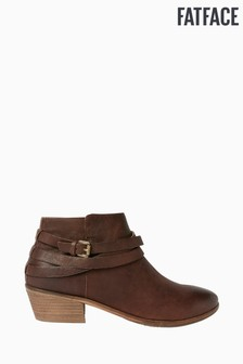 FatFace Brown Sawtry Strappy Ankle Boots