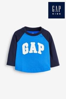 Gap langärmeliges T-Shirt, Blau