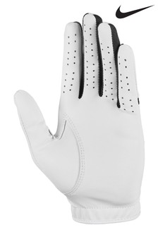 Nike Womens White LH Dura Feel Golf Gloves