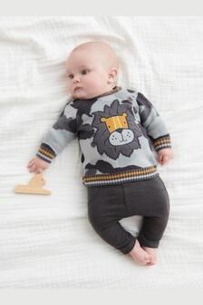 Lion Knitted Jumper (0mths-2yrs)