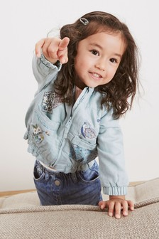 Embroidered Patch Bomber Jacket (3mths-7yrs)