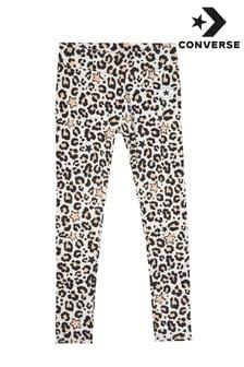 Leggings de niña con estampado de leopardo de Converse
